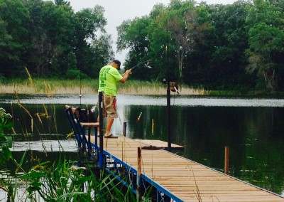 Fishing off the dock - The LadySlipper Inn B&B