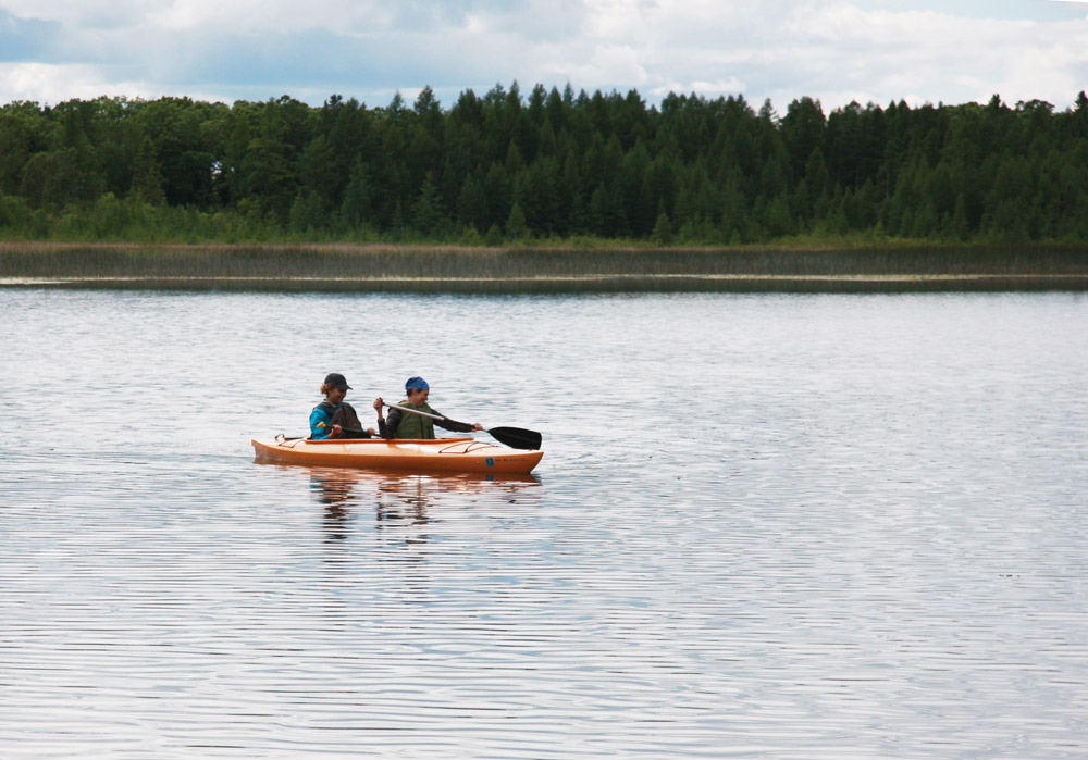 Kayaking on LadySlipper Springs, located near Itasca State Park