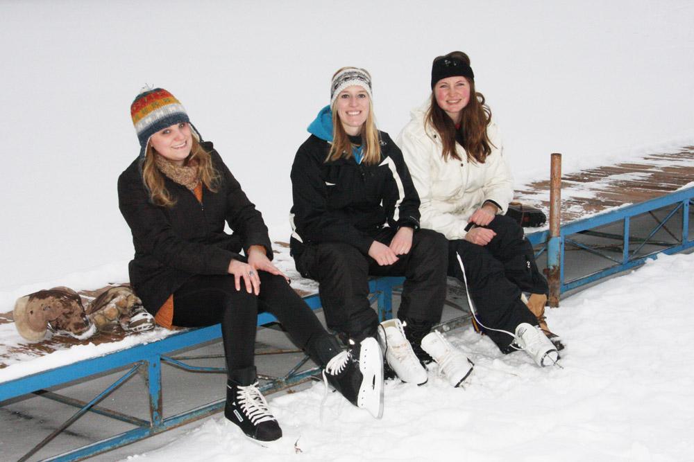 Skating with friends - The LadySlipper Inn B&B