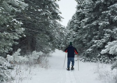 Snowshoeing the trails - The LadySlipper Inn B&B