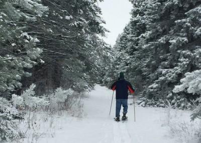 Snowshoeing the trails - The LadySlipper Inn B&B