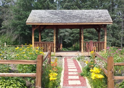 Garden gazebo - The LadySlipper Inn B&B